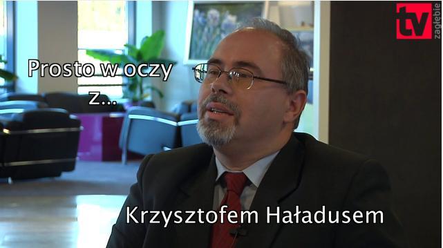foto z wywiadu TV Zagłębie z p. Krzysztof Haładus